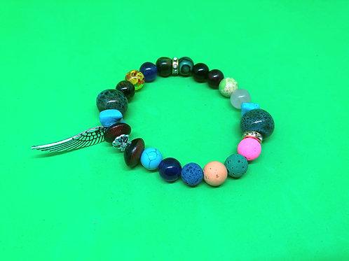 Healing Chakra Angel Wing Bracelet1
