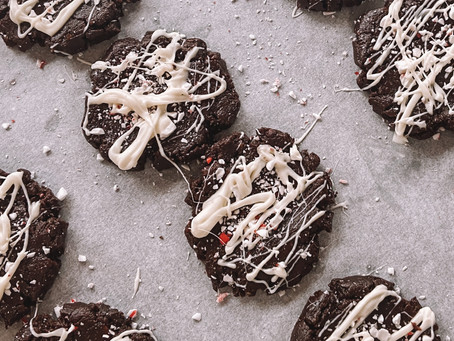 Gluten-Free Chocolate Peppermint Christmas Crownies