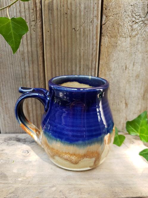Cobalt drip mug