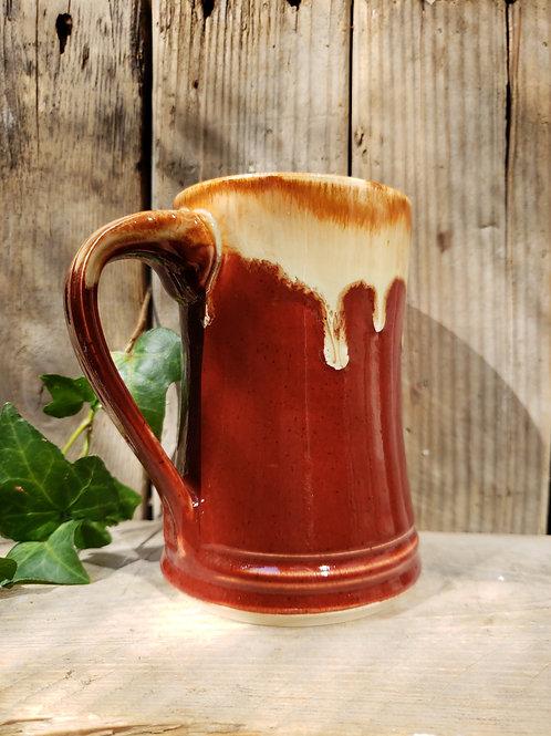 Red brown mug