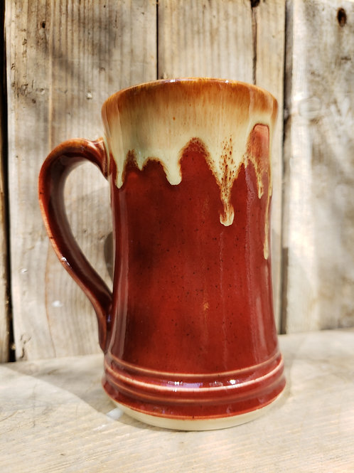 Red drip mug