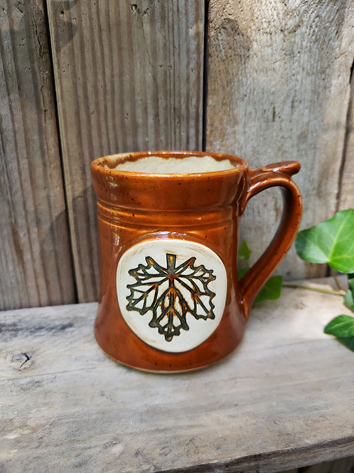 Sienna leaf mug
