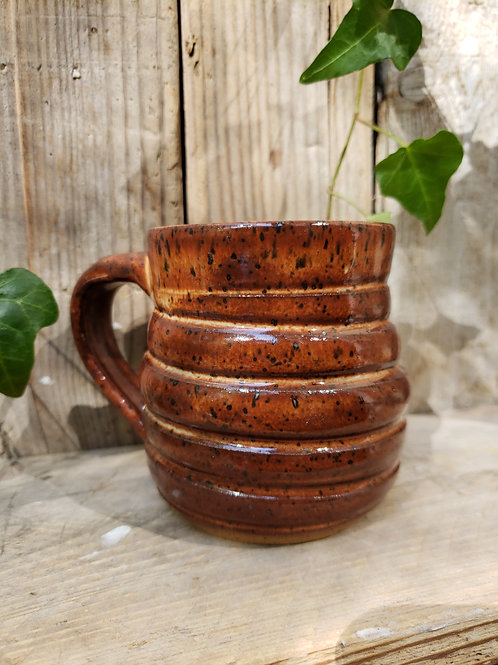 Brown swirl mug