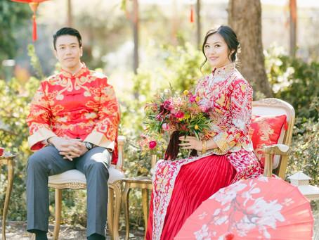 Teezeremonie bei einer chinesischen Hochzeit