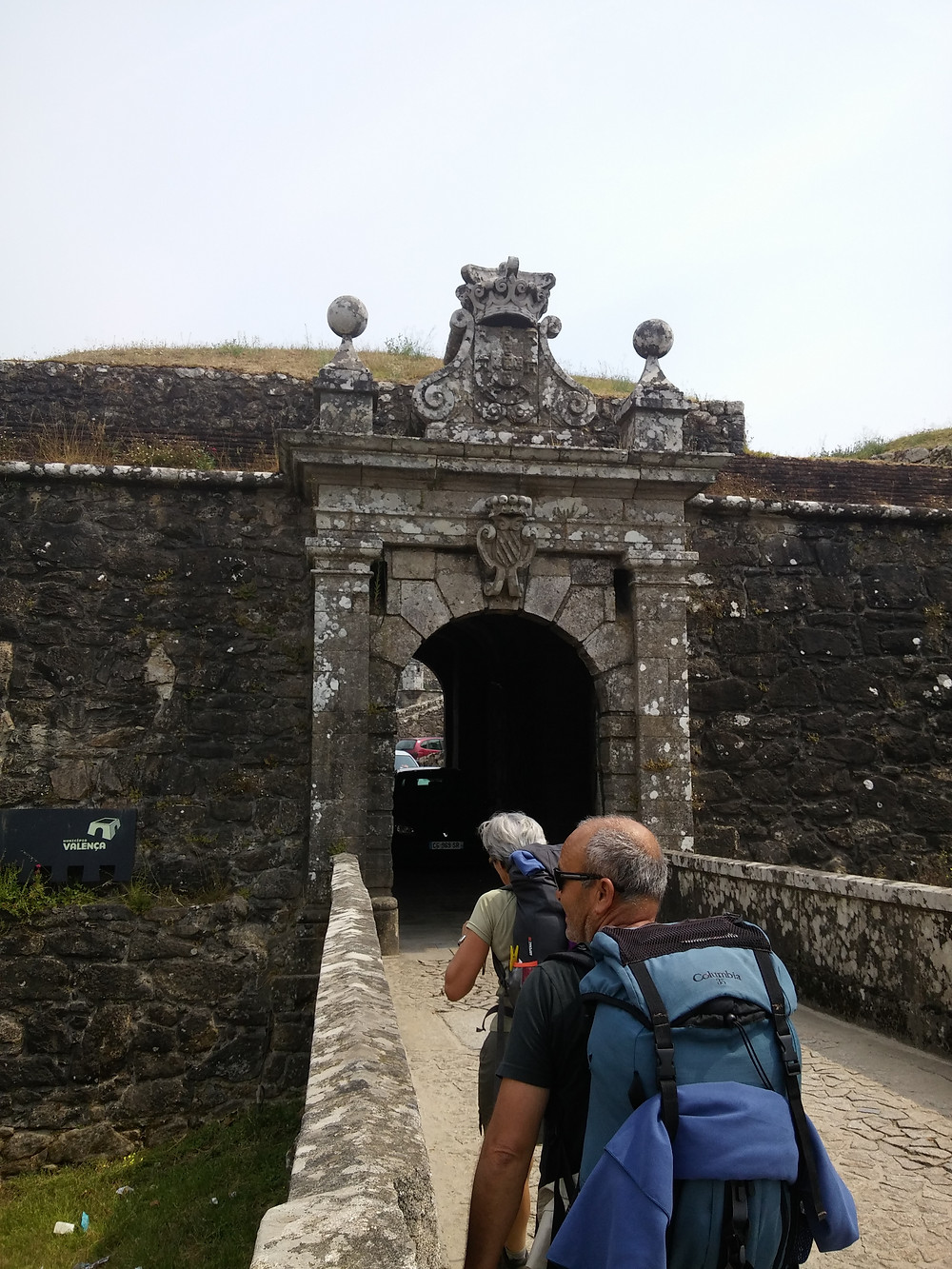 Walking the fortress that separates Portugal and Spain with our fellow hikers