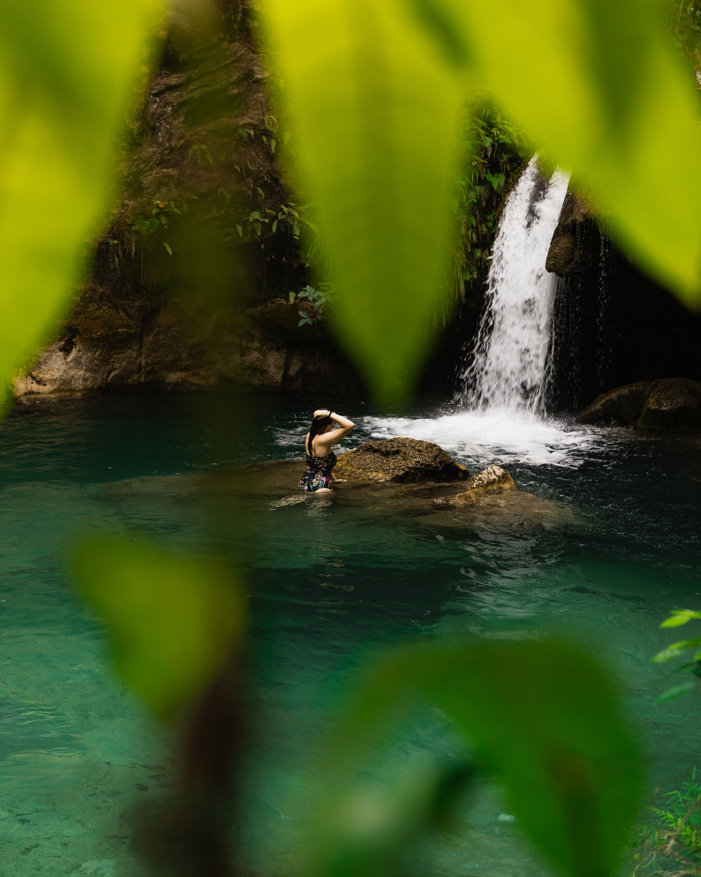 Inambakan falls, Cebu island, Philippins