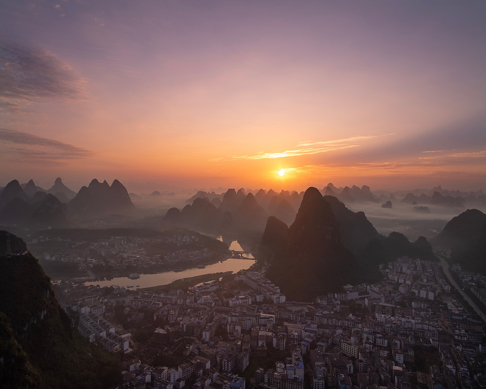 Sunrise in Guilin