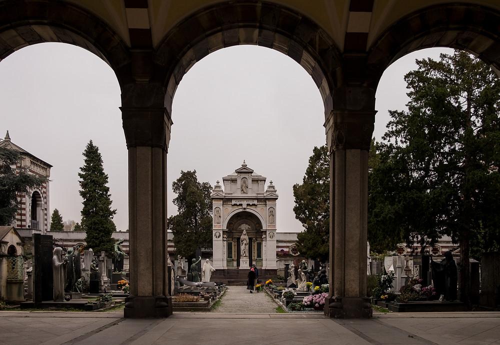 Milan's monument cemetery
