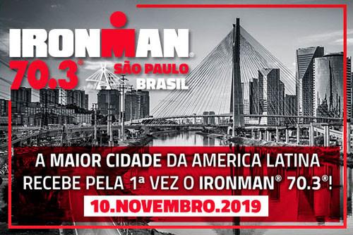 Ironman 70.3 em São Paulo dia 10 de Novembro de 2019