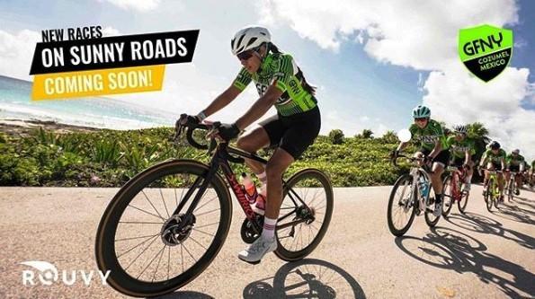 A parceria entre ROUVY e GFNY México incluirá a primeira versão virtual do percurso da prova GFNY Cozumel para profissionais e amadores desfrutarem, treinarem, competirem e experimentarem como é pedalar na paradisíaca ilha de Cozumel, no México.