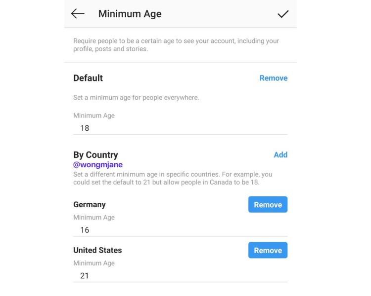 Cada utilizador vai poder restringir a idade dos visitantes do seu perfil