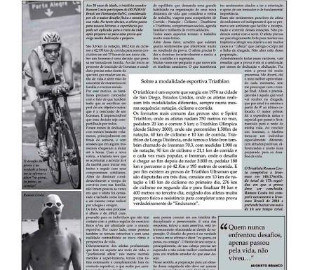 Matéria Jornal Voz do Vale - Taubaté/SP