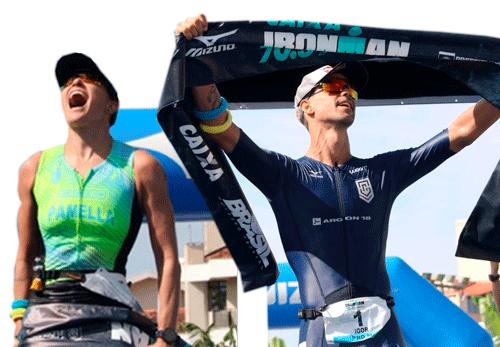 Igor Amorelli e Pâmella Oliveira vencem ironman 70.3 Floripa