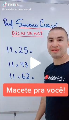 Aprenda matemática no Tiktok com as dicas do professor  Sandro Curió