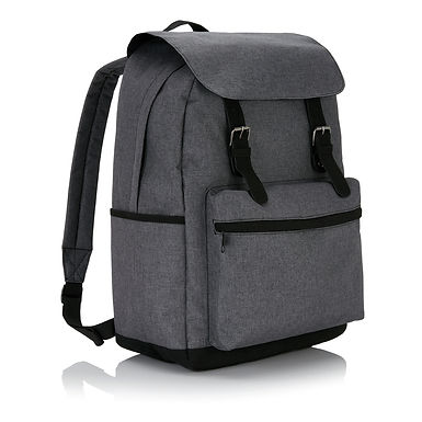 Laptop backpack with magnetic buckle straps