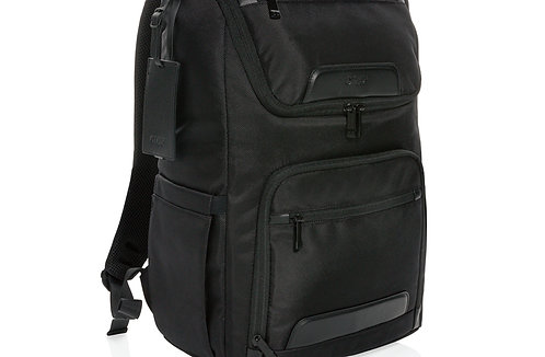"Swiss Peak RPET Voyager USB & RFID 15.6"" laptop backpack"