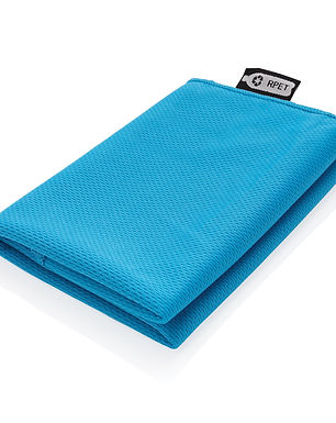 RPET sport towel in pouch
