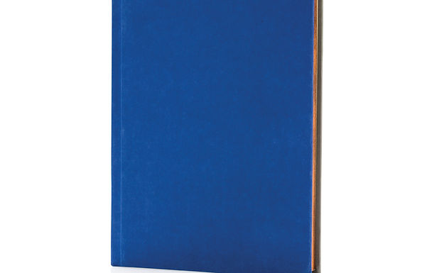 Deluxe fabric 2-in-1 A5 notebook ruled & plain