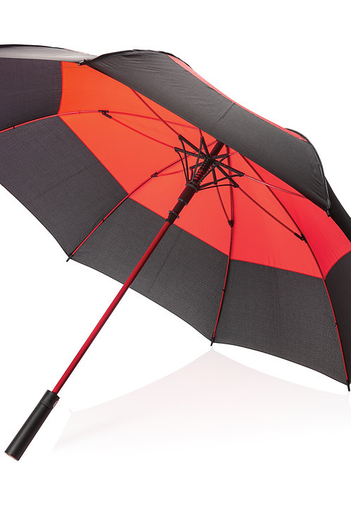"27"" auto open duo colour storm proof umbrella"