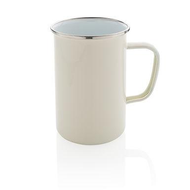 Vintage enamel mug XL