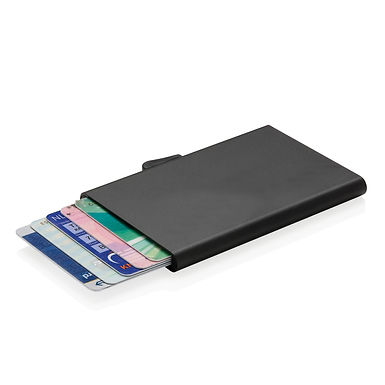 C-Secure aluminium RFID card holder