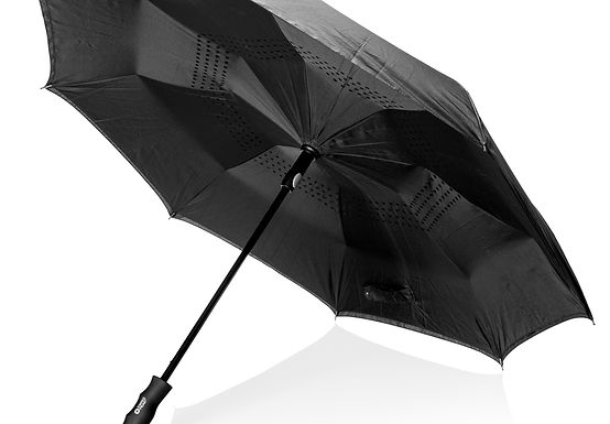 "Swiss Peak 23"" auto open reversible umbrella"