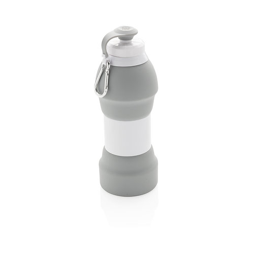 Foldable silicone sports bottle