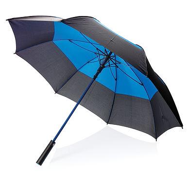 "27"" auto open duo colour storm proof umbrella"