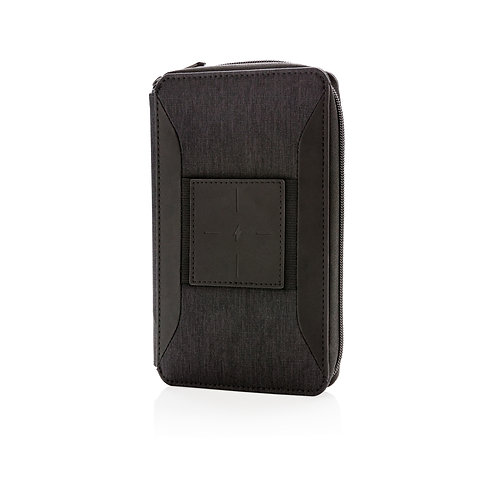 Swiss Peak modern travel wallet with wireless charging