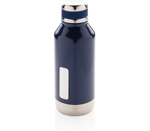 Leak proof vacuum bottle with logo plate