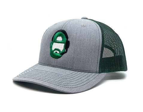 The Commish Hat - Green / Heather Grey