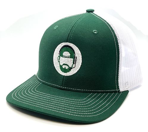 The Commish Hat - Green/White