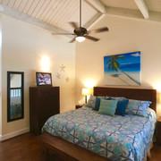 Vaulted ceilings and en suite bath.
