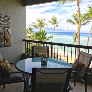 Beach is 50 feet from the edge of your lanai.