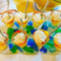 #Keylime #Cheesecake #Shooters with #mango and #chili #rims #whippedcream #NC #Catering #Cary #Ralei