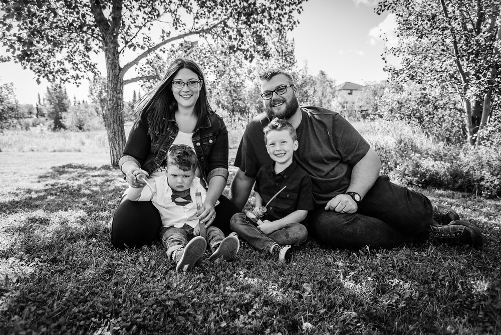 Family of 4, 2 year old cancer survivor
