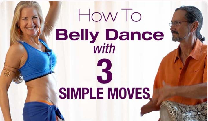 Belly dancer Jensuya and drummer Bob with online course How to Belly Dance with 3 Simple Moves