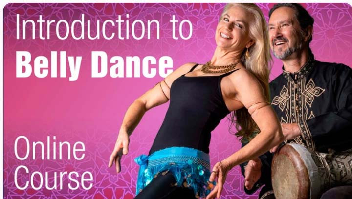 Belly dancer Jensuya and drummer Bob with online course Introduction to Belly Dance