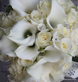 Rhinestone and Callas Bouquet