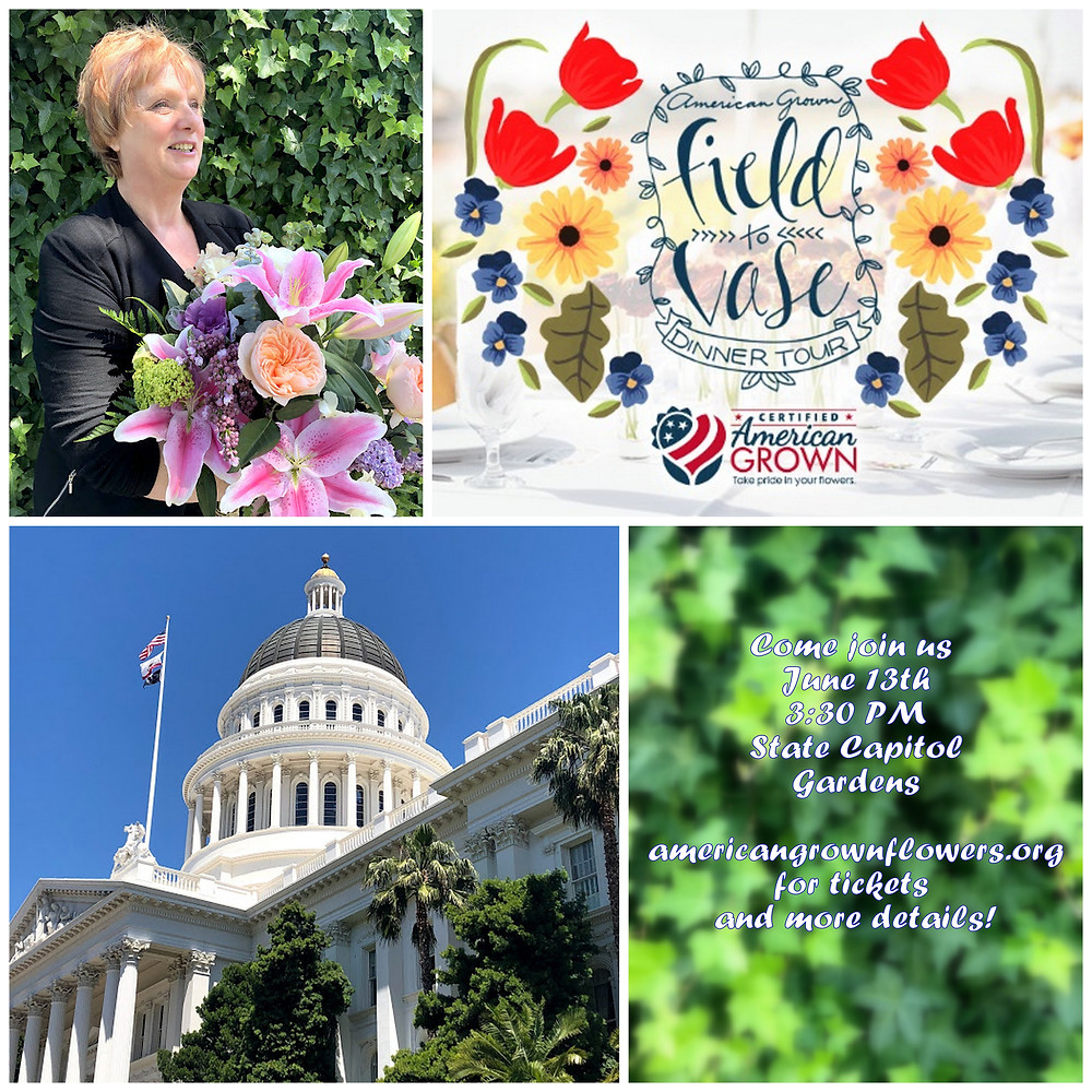 Field to Vase Dinner Tour in Sacramento at the State Capitol June 13th - Buy your Tickets Online