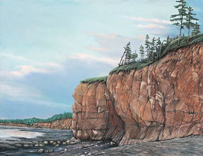 Bay of Fundy-18X24 pastel painting on Ca