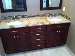 Back Splash & New Faucets