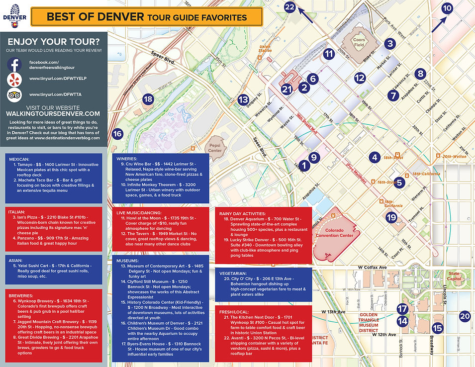 things to do in denver map