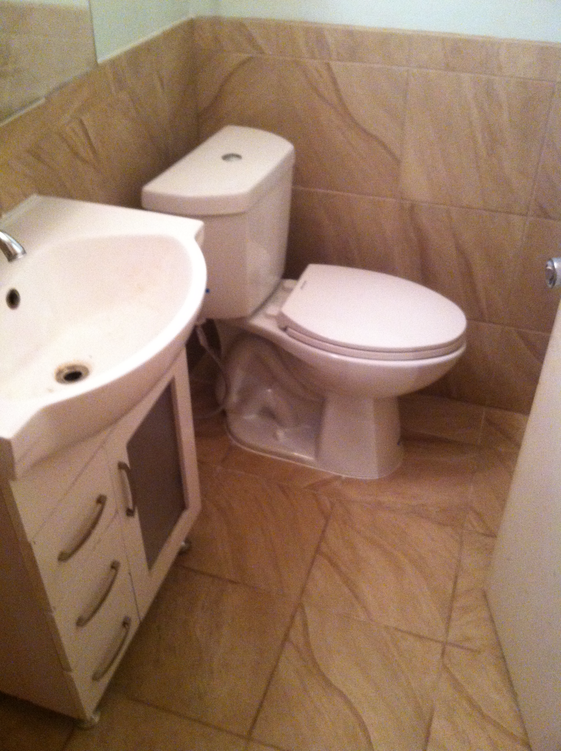 Tile and Toilet Install