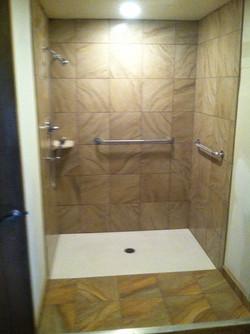 Converted Closet into Shower