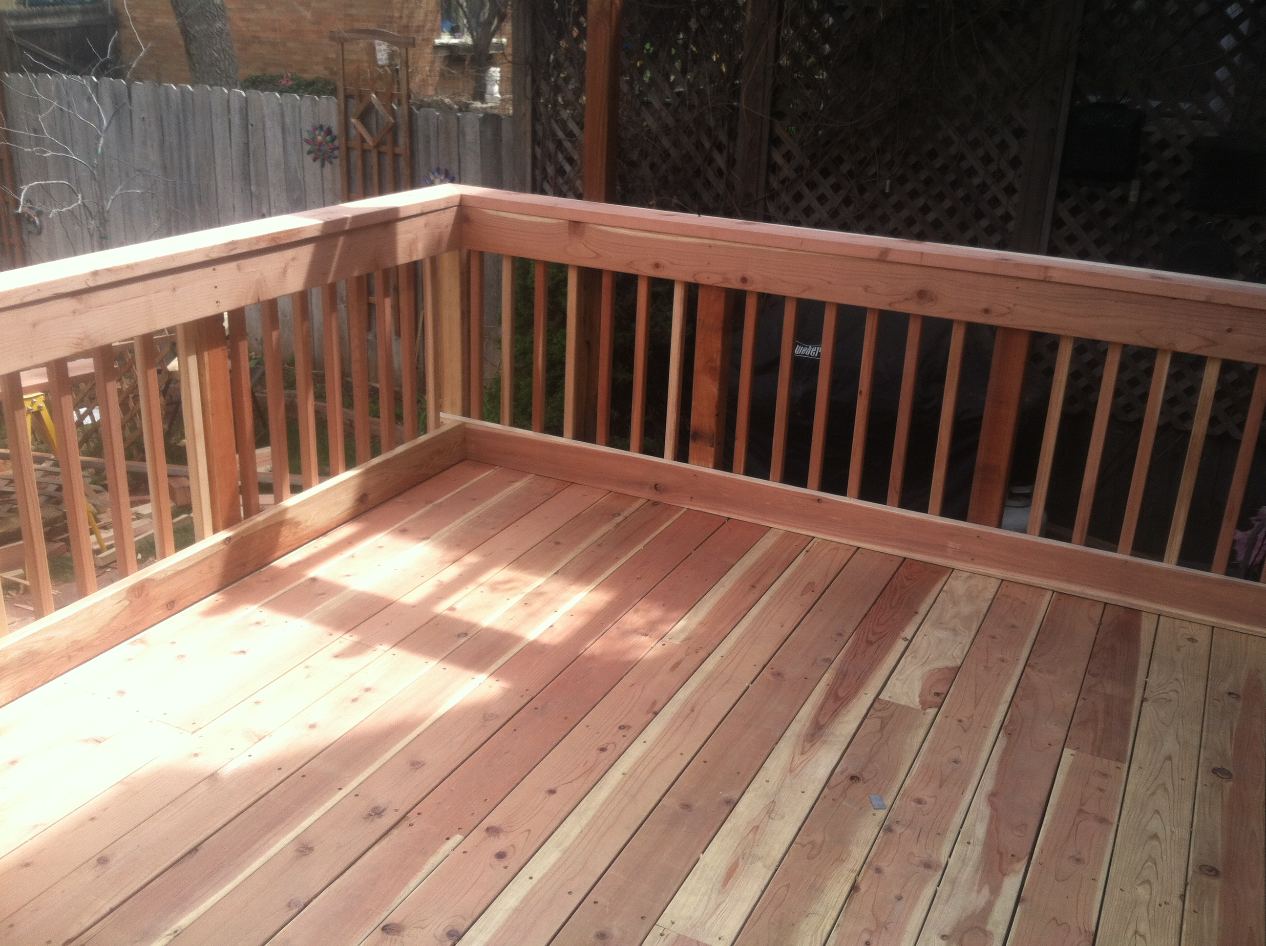 Custom Redwood Deck