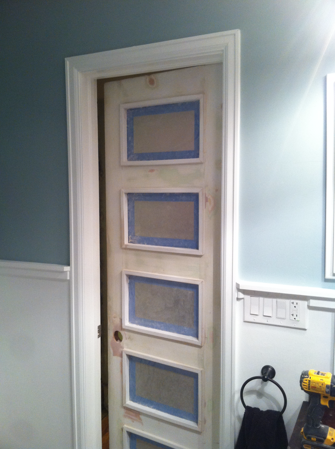 Frosted Glass Inserts - Custom Door