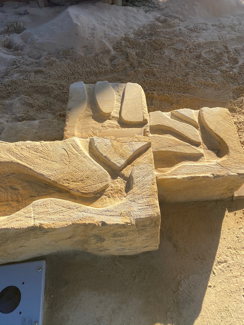 Carved Sandstone Water Channels