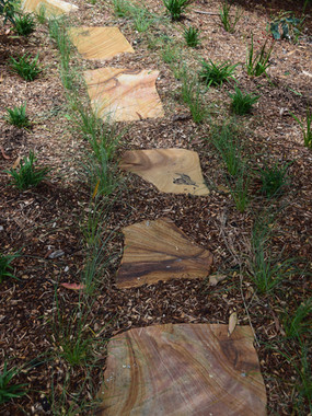 Carved Sandstone Steppers