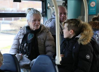 School Council Visit to the Pier with Age Concern UK and Arriva